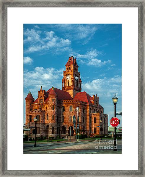 Wise County Courthouse Framed Print