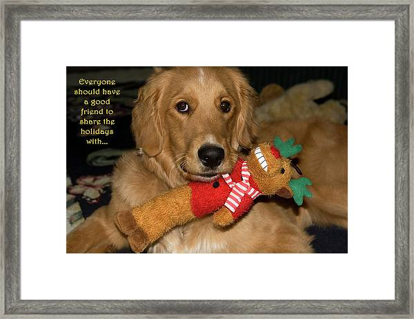 Wish For A Christmas Friend Framed Print