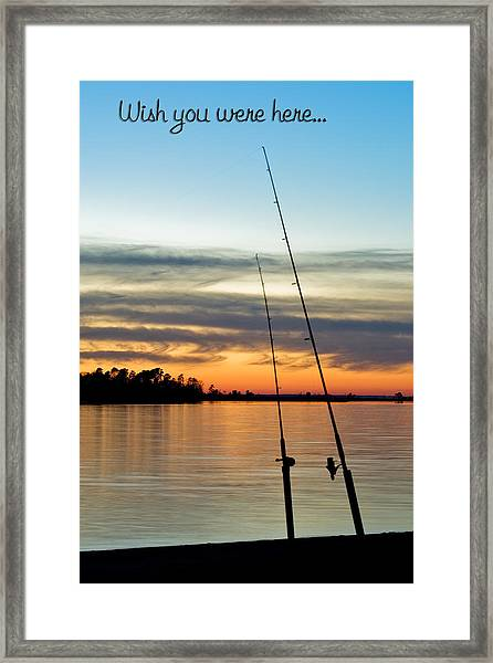 Wish You Were Here Framed Print by Jeff Abrahamson