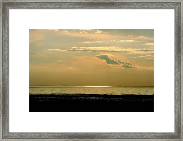 Wispy Sunset Framed Print