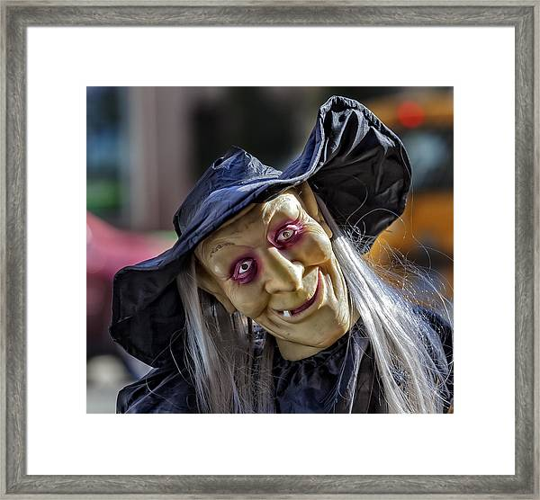 Witch Halloween Decoration Framed Print