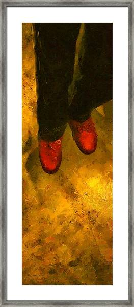 Witch Walking Framed Print
