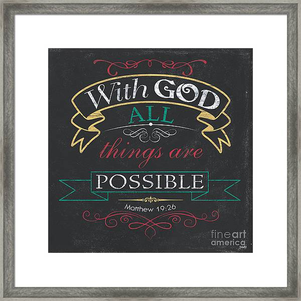 With God Framed Print
