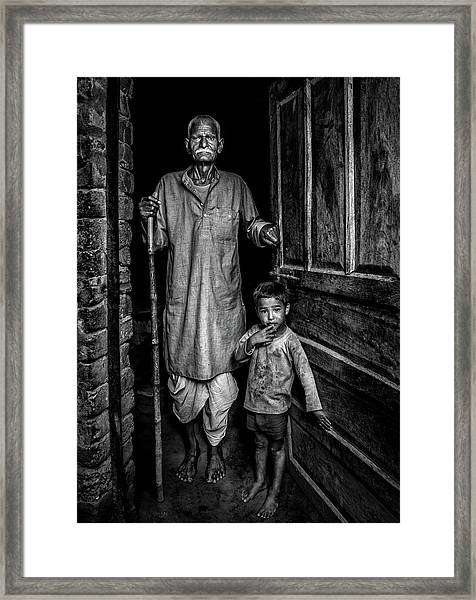 With Grandfather Framed Print