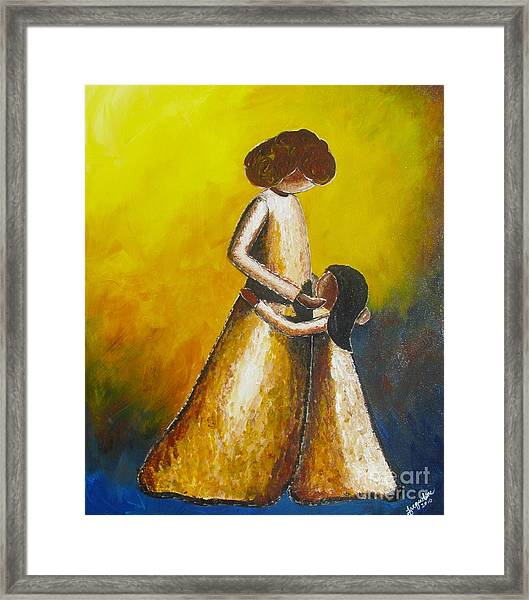 With Her Framed Print