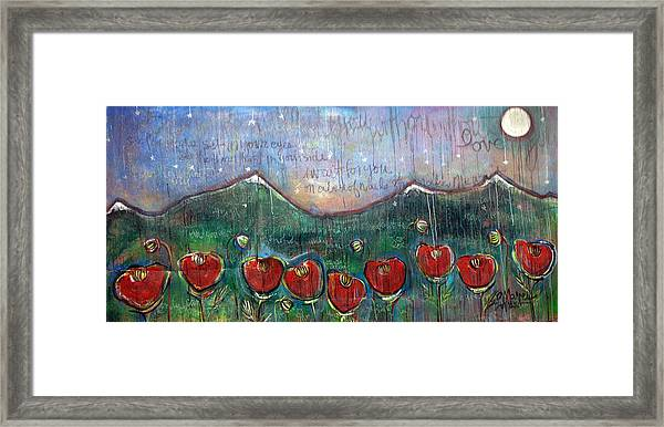 Framed Print featuring the painting With Or Without You by Laurie Maves ART
