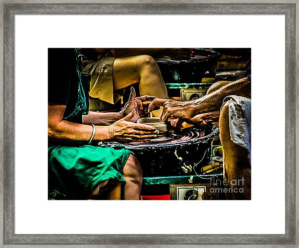 With These Hands.... Framed Print