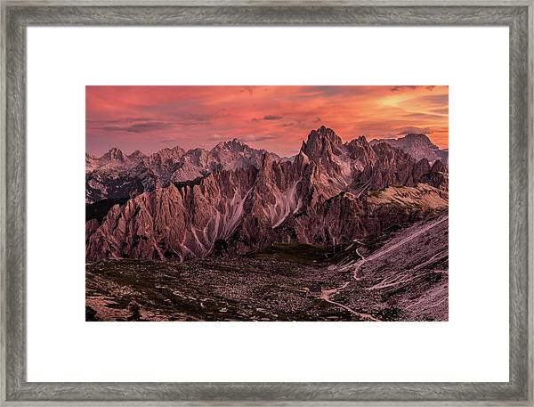 Witnessed Glory Framed Print