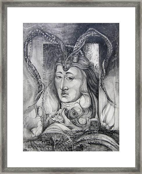 Wizard Of Bogomil's Island - The Fomorii Conjurer Framed Print