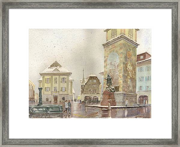 Wm Tell Monument Framed Print