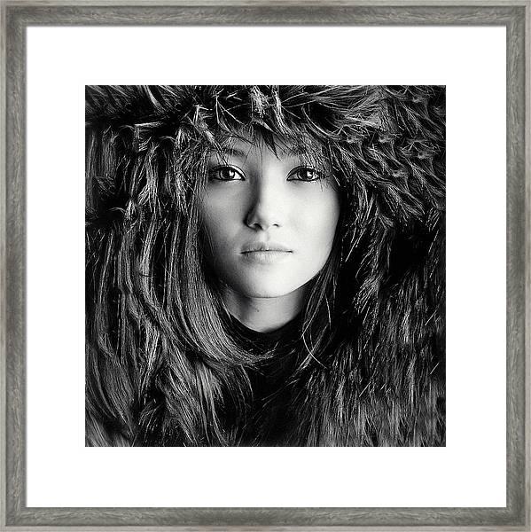Wolf Girl Framed Print