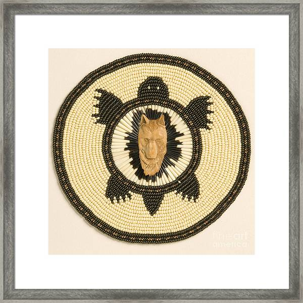 Wolf Turtle Framed Print