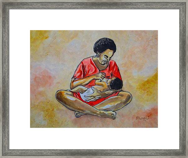 Woman And Child Framed Print