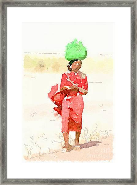 Woman Bag Framed Print