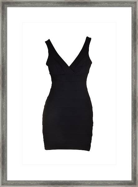 Woman Dress Framed Print by Dendong