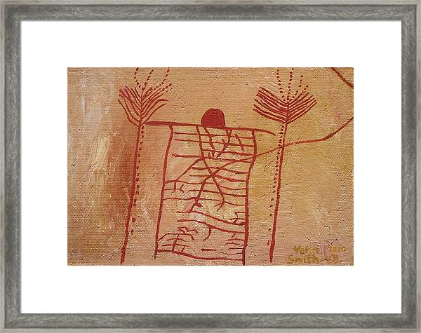 Woman Holding Yuccas Framed Print
