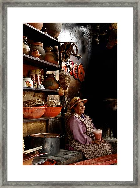 Woman In Chicheria Framed Print