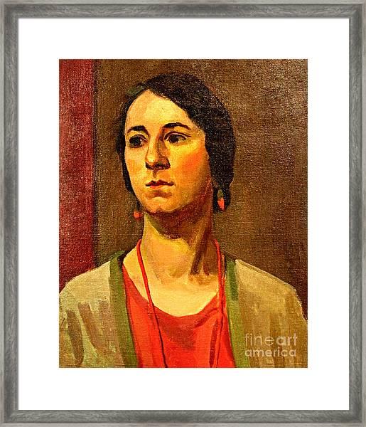 Woman Of 1929 Framed Print