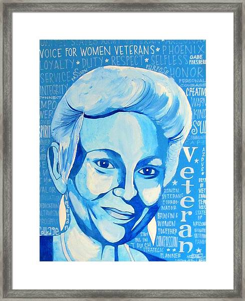 Woman Veteran Gabe Framed Print