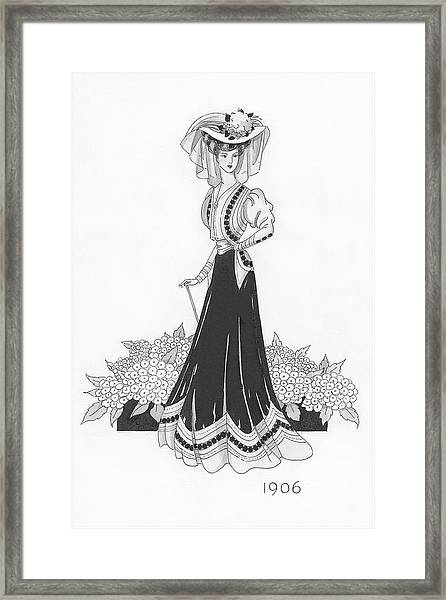 Woman Wearing A Sports Costume Framed Print