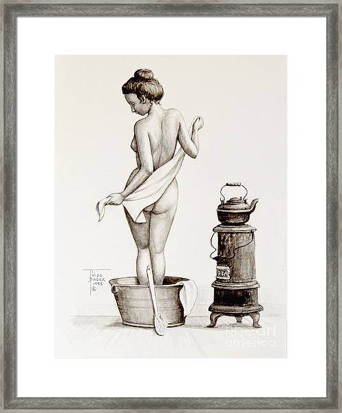 Woman With A Towel 1890s Framed Print