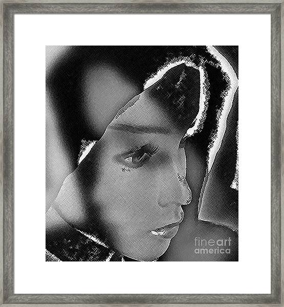 Woman With Broken Heart  Framed Print