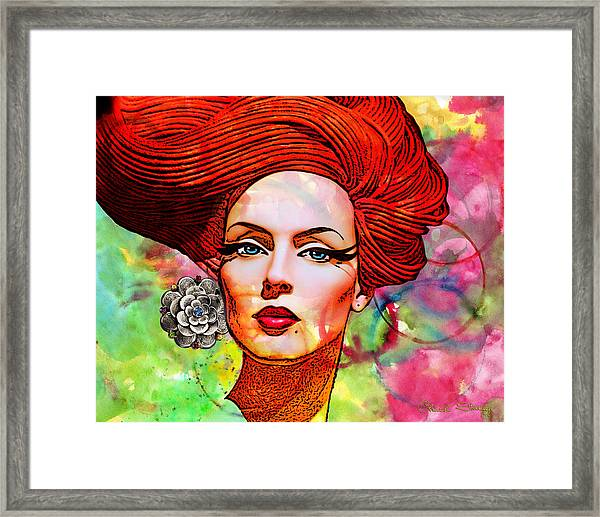 Woman With Earring Framed Print