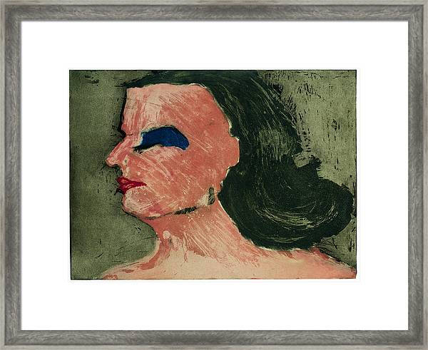 Woman's Profile Framed Print by Tim Southall