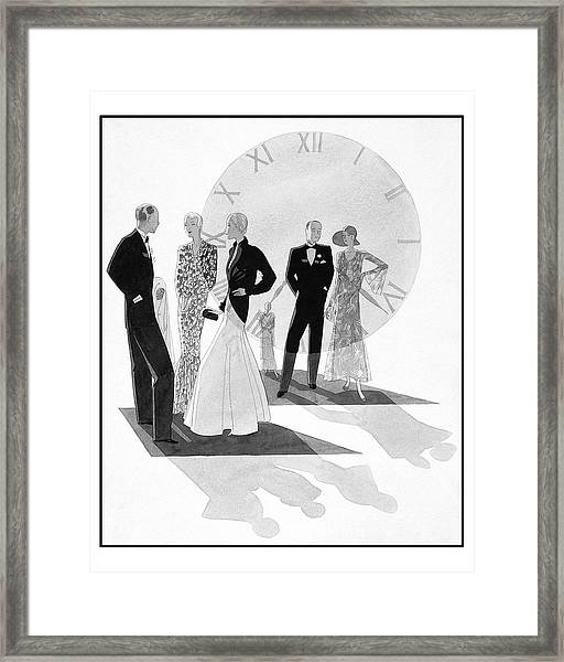 Women Wearing Chanel Framed Print