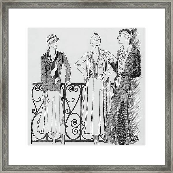 Women Wearing Molyneux Framed Print by Creelman