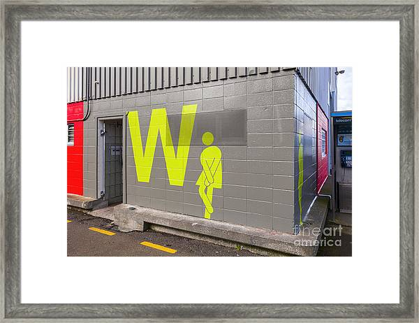 Womens Public Toilet Wellington Nz Framed Print by Colin and Linda McKie