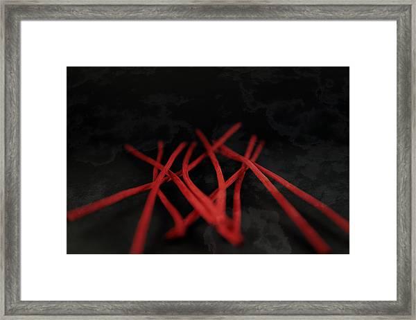 Wondering In Red Framed Print