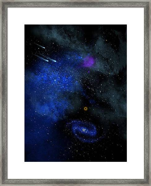Wonders Of The Universe Mural Framed Print