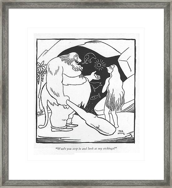 Won't You Step In And Look At My Etchings? Framed Print