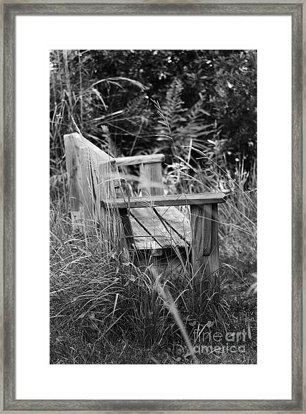 Wood Bench Framed Print
