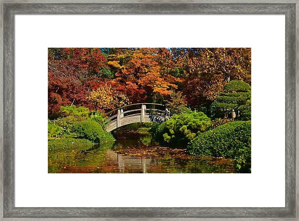 Wood Bridge Framed Print