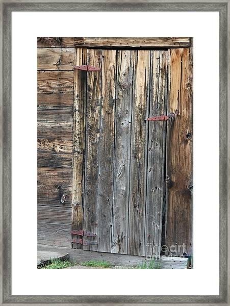 Wood Shed Door Framed Print