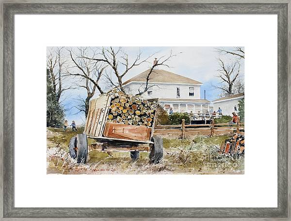 Wood Wagon Framed Print