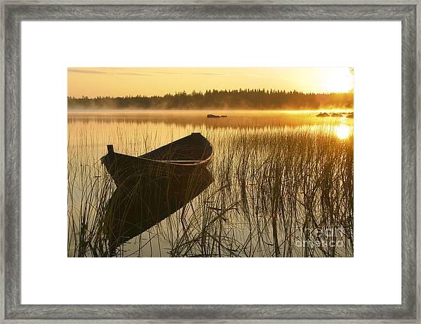 Wooden Boat Framed Print