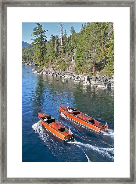 Wooden Boats On Lake Tahoe Framed Print