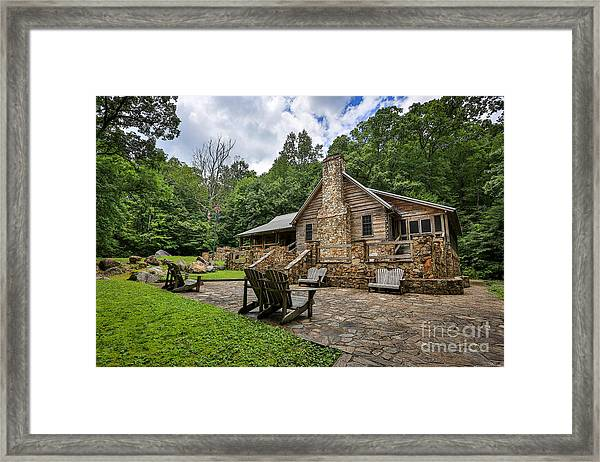 Wooden House Framed Print by Mina Isaac