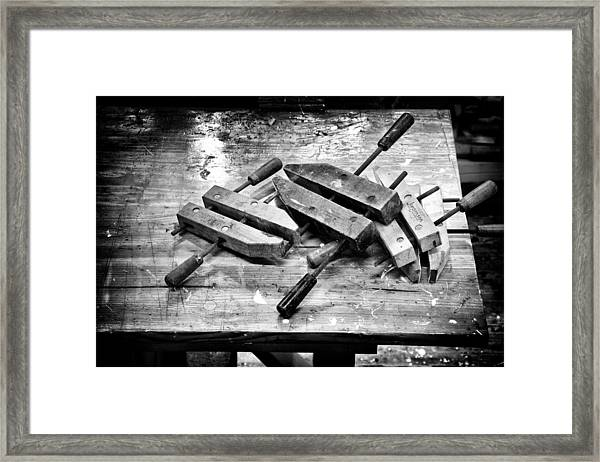 Woodshop Framed Print