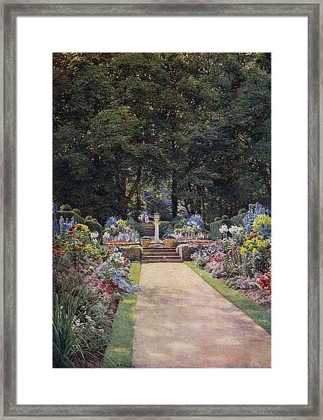 Woodside, Chenies - The Garden Framed Print