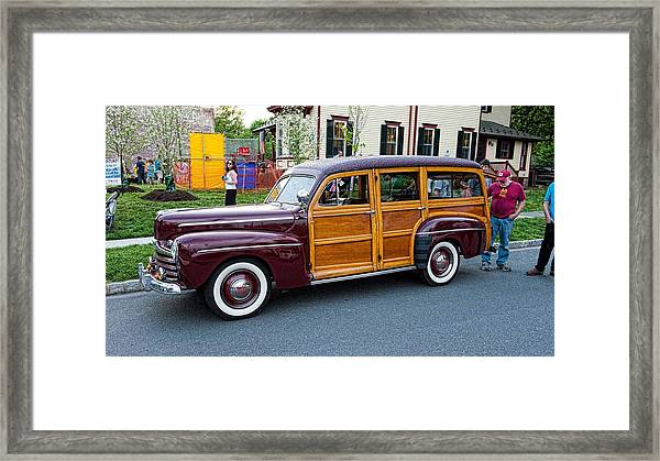 Woody Wagon Framed Print