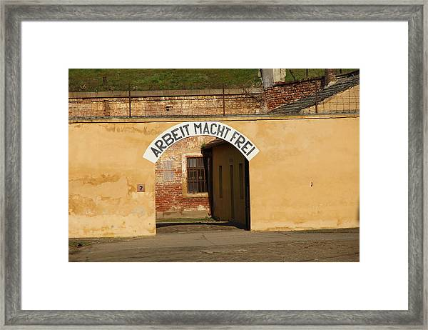Work Will Make You Free Framed Print