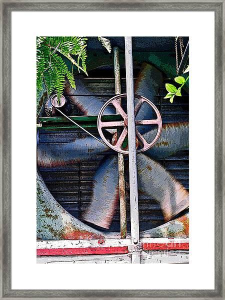 Working Old Fan Framed Print