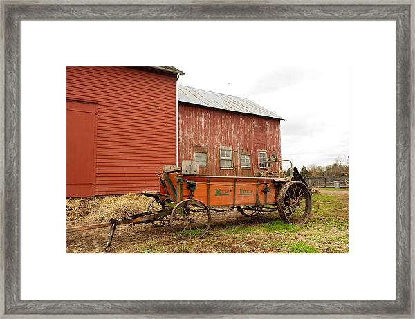 Working Wagon Framed Print