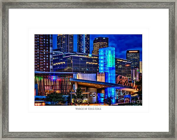 World Of Coca Cola Poster Framed Print