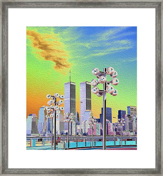 World Trade Center From Nj Terminal Framed Print