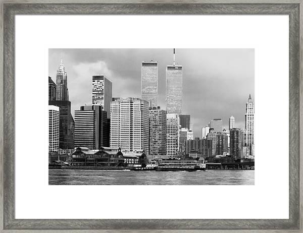 New York City - World Trade Center - Vintage Framed Print